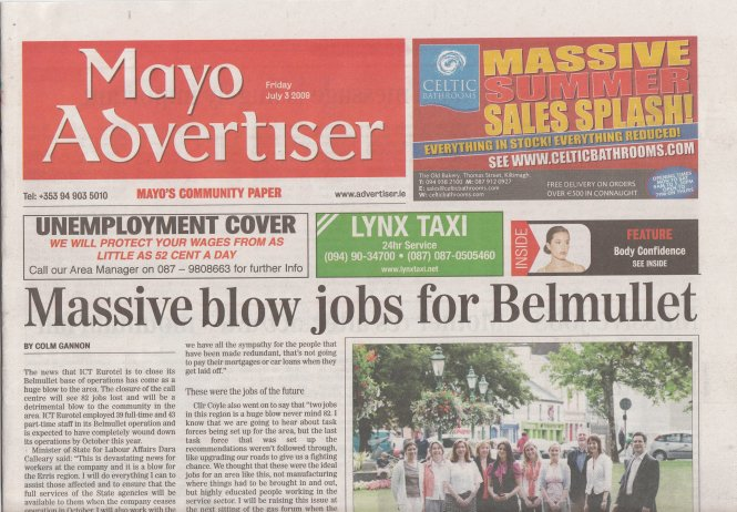 Mayo Advertiser Misprint
